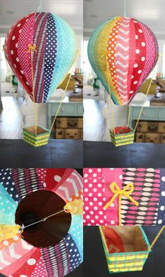 if you know me and DIY's, you know you're in for a long post! i'm not just going to show you how to make one hot air balloon, i'm going to show you how to make 17 different balloons! 3 or 4 times a y