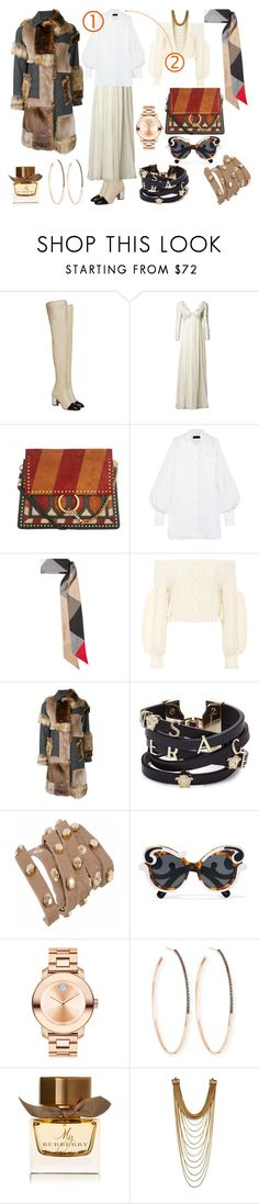 """""""Layering A Puffed Sleeve"""" by p0llyinurpocket ❤ liked on Polyvore featuring Proenza Schouler, Matthew Williamson, Chloé, Burberry, Valentino, Kolor, Versace, Prada, Movado and Lana"""