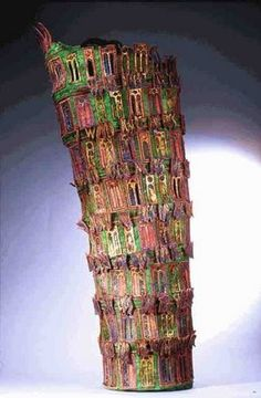 Angie Hughes - Babel, machine embroidery on velvet and organza Textile Sculpture, Textile Fiber Art, Textile Artists, Sculpture Art, Embroidery Fabric, Fabric Art, Machine Embroidery, Creative Embroidery, Fabric Bowls