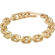 Calvin Klein Women's Faceted Chain Bracelet ($495) ❤ liked on Polyvore featuring jewelry, bracelets, gold, calvin klein, gold bangles, yellow gold jewelry, gold chain jewelry and chains jewelry