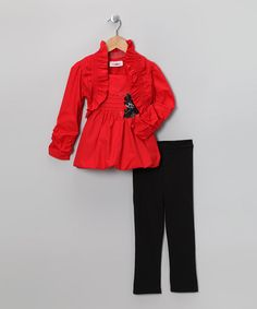 Loving this Red Bubble Tunic Set - Toddler & Girls on #zulily! #zulilyfinds