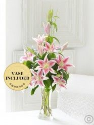 Pink Scented Lily Vase