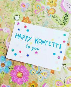 Für dich soll es heute Konfetti regnen l Bunte und fröhliche Geburtstagskarten selber basteln l Konfetti zum Geburtstag verschenken