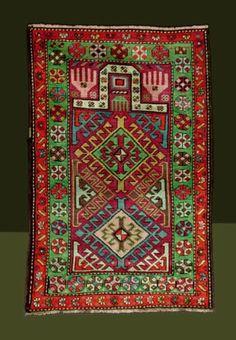 Old Kazak prayer rug