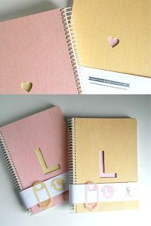 Cuadernos personalizados con clips calados - Proyecto Filigrana