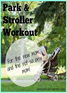 Two awesome workouts perfect for moms because you can do them with the kiddos. One to do with the stroller, another to do at a park. #momworkouts #exercise