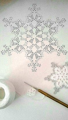 Com Crochet Snowflake Pattern & SkillOfKing.Com The post Crochet Snowflake Pattern & SkillOfKing.Com appeared first on Belle Ouellette. Crochet Snowflake Pattern, Crochet Stars, Crochet Snowflakes, Thread Crochet, Crochet Motif, Crochet Crafts, Crochet Doilies, Crochet Flowers, Crochet Stitches