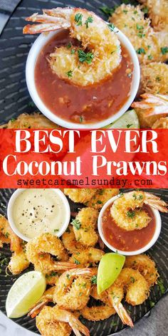 Easy Coconut Shrimp recipe with step by step instructions and photos. Coconut Prawns Janet Fogarty seafood Easy Coconut Shrimp recipe with step by step instructions and photos. Coconut Prawns, Coconut Shrimp Recipes, Shrimp Recipes Easy, Fish Recipes, Seafood Recipes, Cooking Recipes, Healthy Recipes, Coconut Shrimp Sauce, Sauces
