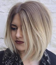 Asymmetrical Ash Blonde Ombre Bob                                                                                                                                                                                 More
