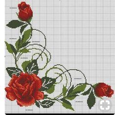 1 million+ Stunning Free Images to Use Anywhere Cross Stitch Rose, Cross Stitch Borders, Cross Stitch Flowers, Cross Stitch Charts, Cross Stitch Designs, Cross Stitching, Cross Stitch Embroidery, Cross Stitch Patterns, Flower Patterns