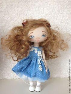 Купить Кукла малышка Кира - розовый, кукла ручной работы, кукла в подарок, кукла текстильная