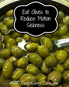 Eat Olives to Reduce Motion Sickness