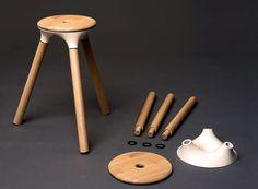 creative furniture Stool By Nico Reinhardt Wood Furniture, Modern Furniture, Furniture Design, Le Manoosh, Modelos 3d, Wood Stool, 3d Prints, Wood Design, Chair Design