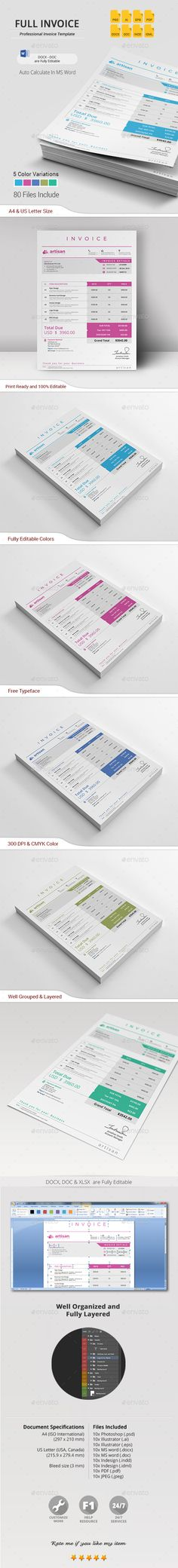 Invoice Template Download http\/\/graphicrivernet\/item\/invoice - product invoice template