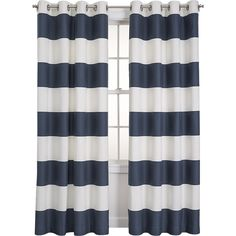 Alston Midnight Curtains | Crate and Barrel Grey Striped Curtains, Plain Curtains, Gold Curtains, Rustic Curtains, Drapes Curtains, Curtain Panels, Bedroom Curtains, Painted Curtains, Contemporary Curtains