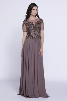 Modest Elegant Long Fomal Dresses Plus Size Mother of the Bride