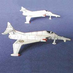 Seriado da Tv Capitão Escarlate - Angel Interceptor Jet Fighters - Arte em Miniaturas