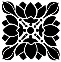 Tile No 1 stencil from The Stencil Library ARTS AND CRAFTS range. Buy stencils online. Stencil code DE88.