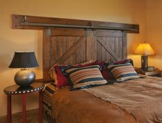 I love this! and if you switch to twin beds, the headboard adjusts.. ;)