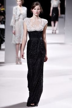055d709cd8 Elie Saab Spring 2011 HC Black and White Embroidered Gown Haute Couture  Paris