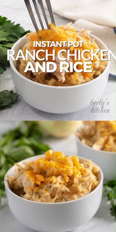 Instant Pot Ranch Chicken and Rice is best pressure cooker recipe! It's tender r… Instant Pot Ranch Chicken and Rice is the best pressure cooker recipe! It is tender ranch chicken and cheesy rice made in a saucepan. It is the perfect stew. Crock Pot Recipes, Yummy Recipes, Ninja Recipes, Instapot Recipes Chicken, Healthy Instapot Recipes, Chicken Spaghetti Recipes, Frozen Chicken Recipes, Ranch Chicken Recipes, Pork Rib Recipes
