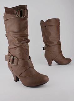 slouchy buckle strap boot $24.20