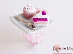 Polymer clay Sweets Rainbow Cake and Creamy Coffee by BiteMeNot