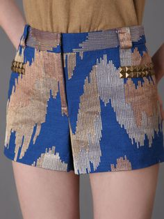 IKAT PATTERN SHORTS by Tracy Reese at Gilt