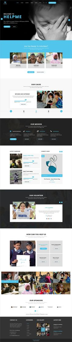 Sympathy is a wonderful #Photoshop template for #charity, donations and non-profit #organizations website with 15 organized PSD files download now➩ https://themeforest.net/item/sympathy-charity-nonprofit-donations-psd-template/19532782?ref=Datasata
