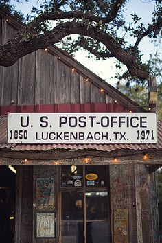 Luckenbach, TX... Pretty cool place!  With Waylon and Willie and the boys : )