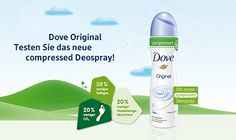 Dove Original compressed Deospray Gratisproben