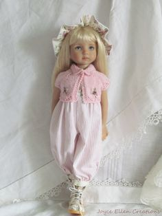 "13"" Effner Little Darling BJD Pink White Rompers Set OOAK Handmade Set by JEC | eBay"