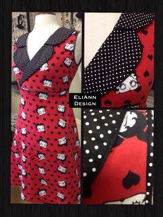 Betty Boop Jersey kjole