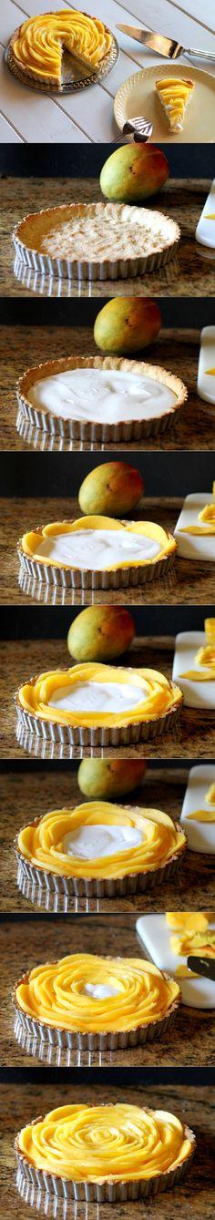 Mango Tart (GF, Paleo, Vegan)