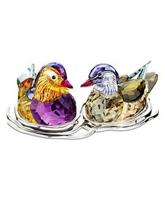 Swarovski Collectible Figurine, Topaz Mandarin Ducks