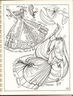 BALLET 19th Century Costumes Book 2 Paper Dolls by Charles Ventura <> 13 of 20