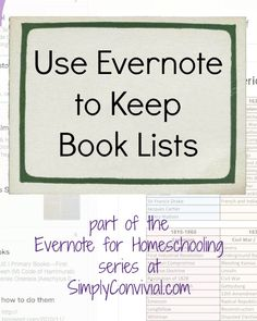 Evernote is a great tool for homeschool moms! You can keep organized without keeping a ton of papers. Make your homeschool planning digital with Evernote.