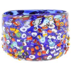Vases Murano Glass Millefiori Mosaic Bowl Blue (11740 RSD) ❤ liked on Polyvore featuring home, home decor, blue home decor, blue bowl, murano glass bowl, murano blue glass bowl and mosaic home decor