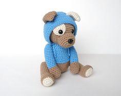 Amigurumi Hooded Puppy CROCHET PATTERN in English using US crochet terminology.
