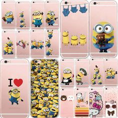 Cute Cartoon Despicable Me Yellow Minion Panda Design Phone Case Cover For iPhone 5 5s 6 6s Plus 7 Case Soft Silicon Cover Coque