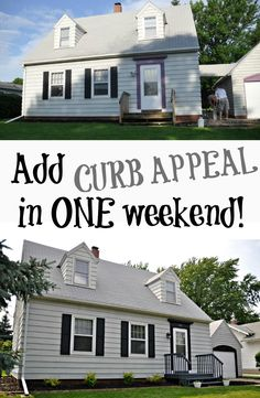 Add Curb Appeal in One Weekend! Simple updates made a big improvement in this house's curb appeal!