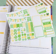 August Weekly Layout Planner Sticker Set Coordinating by SASPlans
