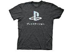 Ripple Junction Playstation Logo Foil Adult T-Shirt 2XL H...