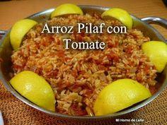 Receta de arroz pilaf con tomate. Muy rico y fácil de hacer, sigue la receta paso a paso. Quick Easy Meals, Cooking Recipes, Easy Recipes, Grains, Rice, Pasta, Food, Mother Nature, Youtube