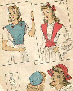 Vintage 40s DuBarry 5311 Misses Accessories Bibette Dutch