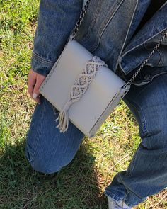 vanity miny sand grey bag Calf Leather, Leather Bag, Black Leather, Macrame Design, Leather Interior, Handmade Bags, Italian Leather, Mini Bag, Hand Stitching