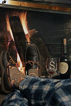 Spending the evening in front of a roaring fire......sheepskin optional :o)