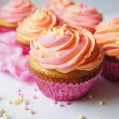 Orange Soda Cotton Candy Cupcakes