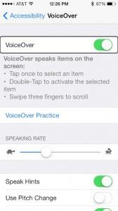 Let your device to read iBook in iOS 7 through iPhone Voiceover app