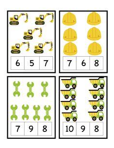 Preschool Printables: Construction Zone Printable